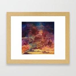 Sunset Rain II Framed Art Print