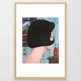 girl with hairdo Framed Art Print