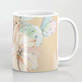 Desert Cactus Flower Apricot Coral Coffee Mug