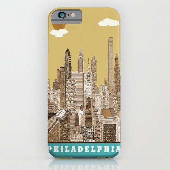 Philadelphia skyline vintage iPhone & iPod Case