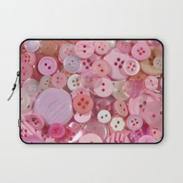 Baby pink buttons background Laptop Sleeve
