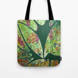 Green Garden Moose Tote Bag