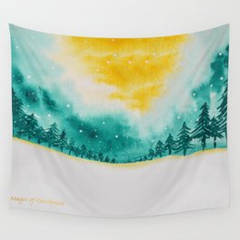 Magic of snow Wall Tapestry
