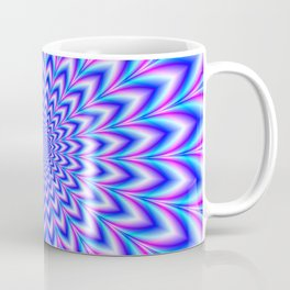 Psychedelic Pulse in Blue and Pink Coffee Mug