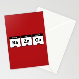 Bazinga Periodic Table Funny Quote Stationery Cards
