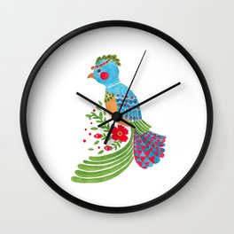 The Blue Quetzal Wall Clock