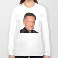 robin williams Long Sleeve T-shirts featuring A Man In Pieces - Robin Williams Memorial by Designs By Misty Blue (Misty Lemons)