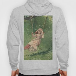 Girl On A Swing 1897 By WinslowHomer | Reproduction Hoody