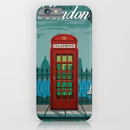 Vintage Travel Poster - London iPhone Case