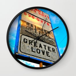 Greater Love Wall Clock