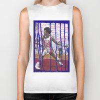 nba Biker Tanks featuring NBA PLAYERS - Julius Erving by Ibbanez