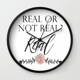 Real or not Real Wall Clock