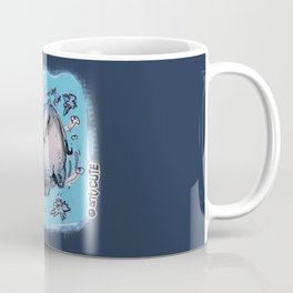 cartoon style drawing flying elephant Coffee Mug