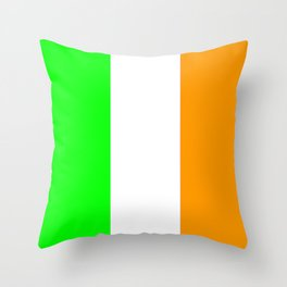 flag of ireland 5 -ireland,eire,airlann,irish,gaelic,eriu,celtic,dublin,belfast,joyce,beckett Throw Pillow