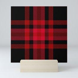 Red black tartan  Mini Art Print
