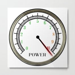 Power Meter Metal Print