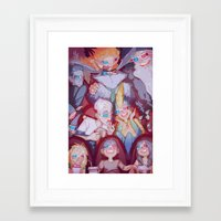 cinema Framed Art Prints featuring Cinema by DustyLeaves