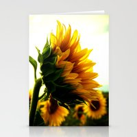sunflower Stationery Cards featuring Sunflower by 2sweet4words Designs