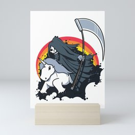 Funny Unicorn Halloween print - Unicorn Death Mini Art Print