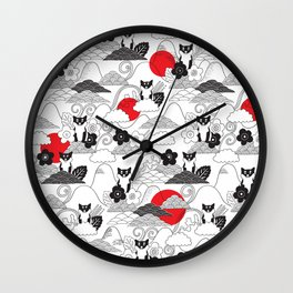Japanese Shibainu. Wall Clock