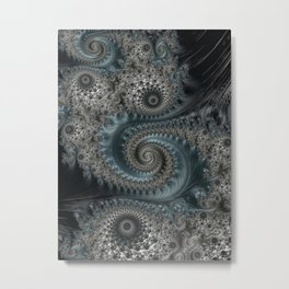 Midnight Escapade - Fractal Art  Metal Print