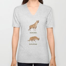 Hyena Lowena Unisex V-Neck