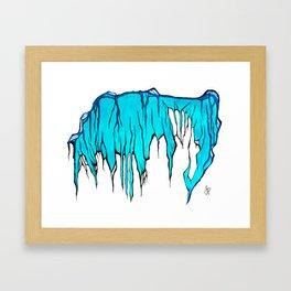 Cyan Cave Framed Art Print
