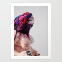 Footloose and Fancy Free, felted Art Print