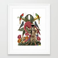 planet Framed Art Prints featuring PLANET by MANDIATO ART & T-SHIRTS