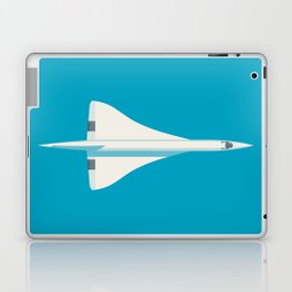 Concorde Supersonic Jet Airliner Aircraft - Cyan Laptop & iPad Skin