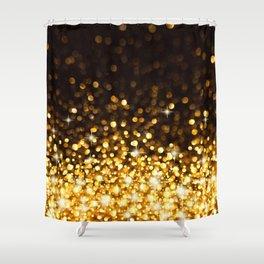 Gold Ombre Glitter Shower Curtain
