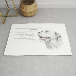 Murphy :: Loyalty [with Quote] Rug