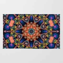 BBQSHOES: Kaleidoscopic Fractal Digital Art Design 1702K Rug