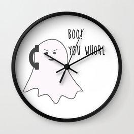 Boo! You Whore Wall Clock