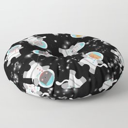 Astronaut Space Cats With Constellations Floor Pillow
