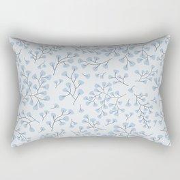 Blue Maidenhair Rectangular Pillow