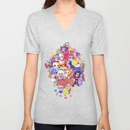 UNDERTALE MUCH CHARACTER Unisex V-Neck