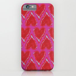 Hearts in Pink iPhone Case