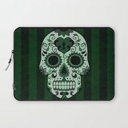 Día de los Muertos in Emerald Green Laptop Sleeve