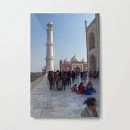 Hanging Out Behind the Taj Mahal Metal Print