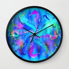 Seahorse Party Wall Clock