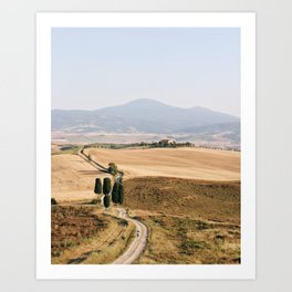 Golden hour in Tuscany Art Print