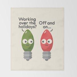 Seasonal Employment Throw Blanket