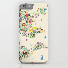 Animal Map of the World iPhone 6 Slim Case