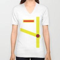 xmen V-neck T-shirts featuring Cyclops - Minimalist - XMen by Adrian Mentus