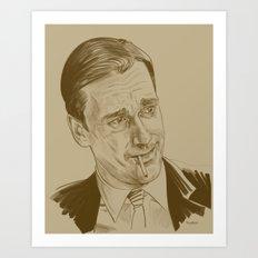 Don Draper (TV character played by Jon Hamm) Art Print