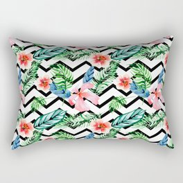 Geometric modern flowers pattern Rectangular Pillow