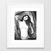 madonna Framed Art Prints featuring Madonna by The Invisible Shop