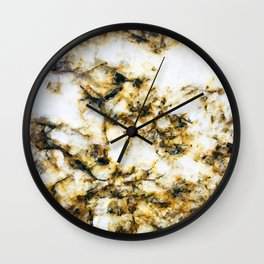 Glamorous Gorgeous Gold Strike Marble Pattern Wall Clock