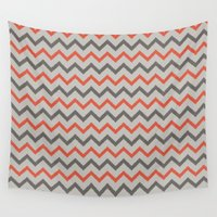 chevron Wall Tapestries featuring Chevron. by Priscila Peress